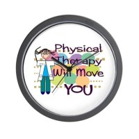 Physical Therapy Wall Clock by nurseii