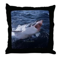 Great White Shark Pillows, Great White Shark Throw Pillows ...