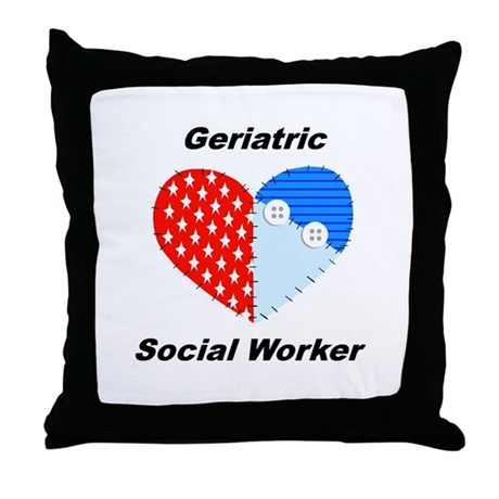 Geriatric Social Worker Throw Pillow by swgifts