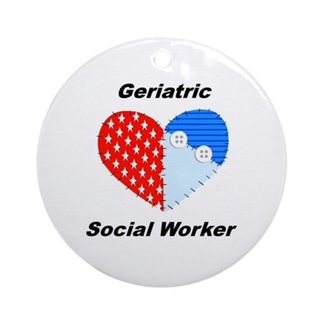 Geriatric Social Worker Ornament Round by swgifts