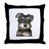 Miniature Schnauzer Throw Pillow by love_schnauzers
