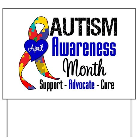 Autism Awareness Month Yard Sign By Gifts4awareness