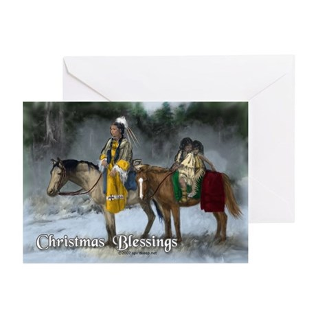Native American Christmas Blessings Cards 1 10 By