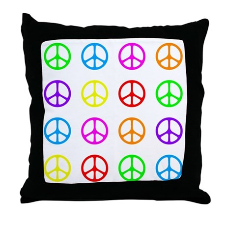 Peace Sign Throw Pillow by quotationmark