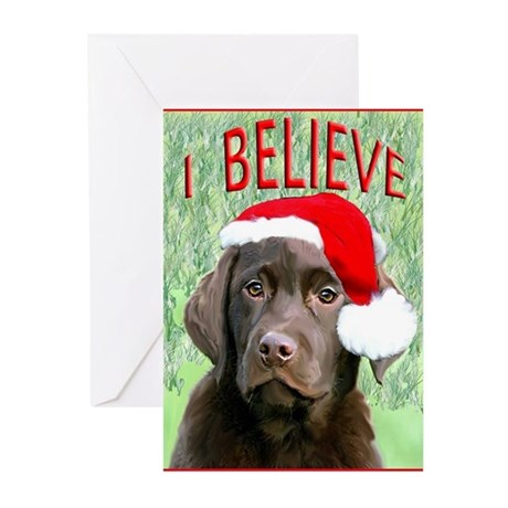 Chocolate Lab Christmas Puppy Greeting Cards Pk O By Dogdaze