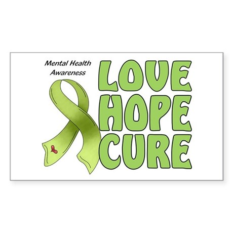 Mental Health Awareness Rectangle Decal by alley