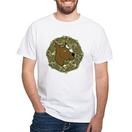 Great Dane Xmas Wreath Mens Classic T Shirts Great Dane