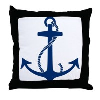 Anchor Throw Pillow by trendyteeshirts