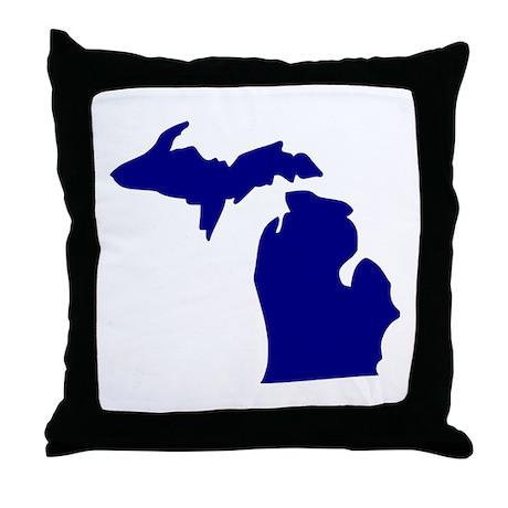 Michigan Throw Pillow by Styleking