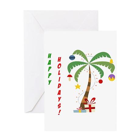 Holiday Palm Tree Greeting Card By ChristmasPalmTree