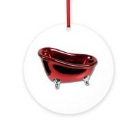 Red BathTub Ornament (Round) by RedBathTub
