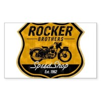 Vintage Cafe Racer Sticker (Rectangle) by vintagecaferacer