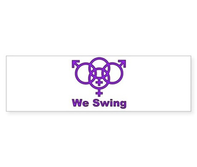 Swinger Symbol We Swing Sticker