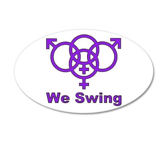 Swinger Symbol We Swing X Oval
