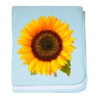 Sunflower baby blanket by DODGERFL