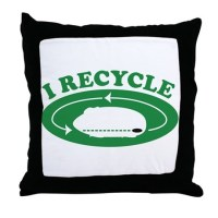 I recycle Throw Pillow by ThatsFunnyHoney