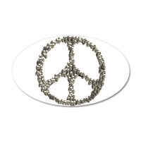 Skulls Peace Sign Wall Sticker by ursinelogic