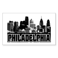 Philadelphia Skyline Stickers | Philadelphia Skyline ...