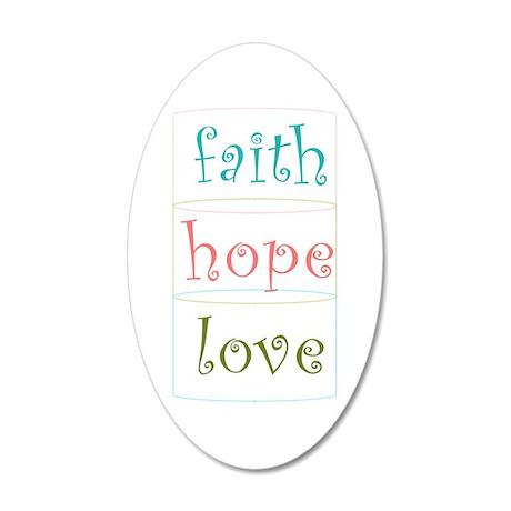 Faith Hope Love Wall Decal by csturman10