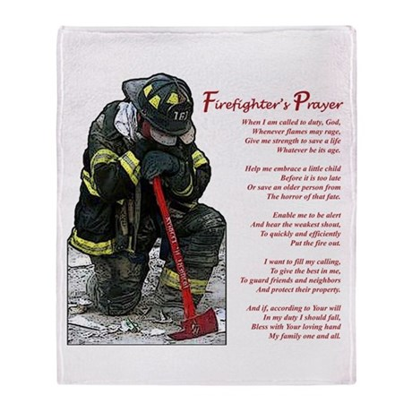 Firefighter Prayer Throw Blanket by firedesigns