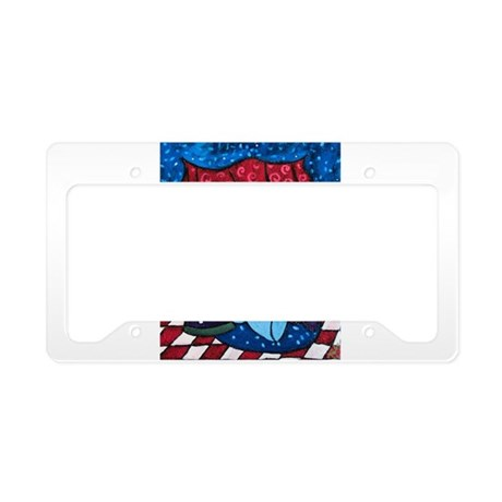Texas Wine Country License Plate Holder by bemusedart