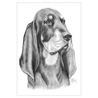 Black And Tan Coonhound Wall Art | Black And Tan Coonhound ...
