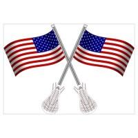 American Flag Lacrosse Wall Decal