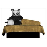 Panda Bear Massage Wall Decal