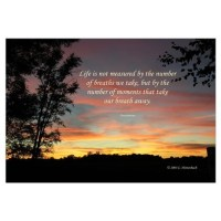 Life's Moments Sunset Wall Decal