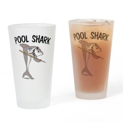 Pool Shark Drinking Glasses.  For Pool Players & Pool Lovers! Fun Hobby Gear!