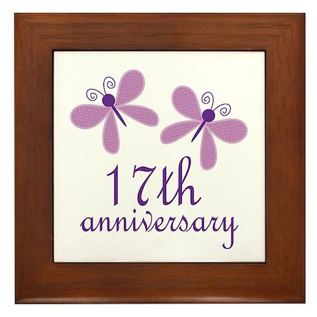 17th Anniversary Wedding Framed Tile by anniversarytshirts