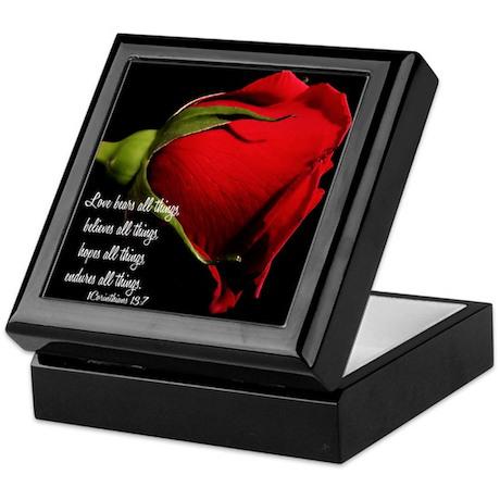 1 Corinthians 13/ Rose Keepsake Box by alondrascreations
