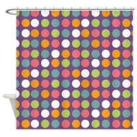 Dots Light Purple Shower Curtain by Admin_CP45405617