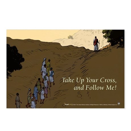 Take Up Your Cross And Follow Me Lent Postcards By Tumi