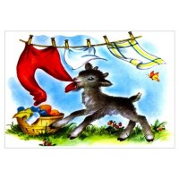 Funny Clothesline Goat Wall Art Wall Decal