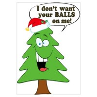 Funny Merry Christmas tree Wall Art Canvas Art