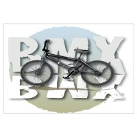 Kids Bmx Wall Art