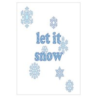 Let it snow Wall Art Wall Decal