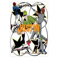 Custom Baseball Name Wall Art Poster