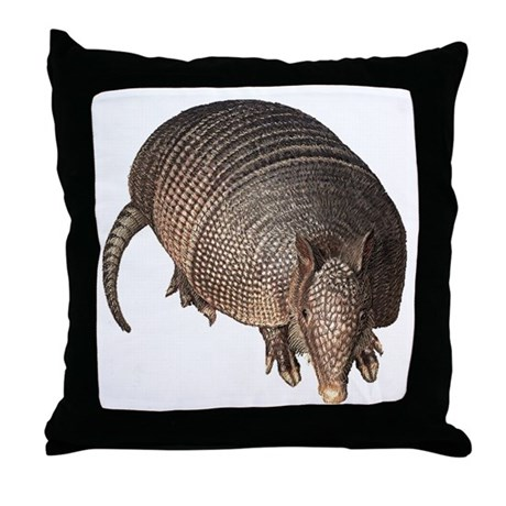 Armadillo Throw Pillow by ilovemydoggifts