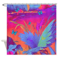 Tropical Shower Curtain by AngelinaLucia10