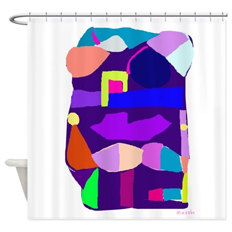 Deep Purple Shower Curtain by MasabosOnlineStore