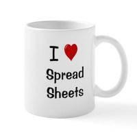 I Love Spreadsheets Mug - Office Mug by accountingcelebrity