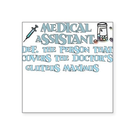 Medical Assistant Covers Square Sticker by Admin_CP8571569
