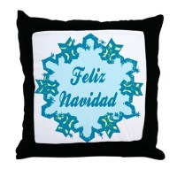 Merry Christmas in Spanish Throw Pillow by PlaytimeAndParty