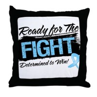 Ready Fight Prostate Cancer Throw Pillow by hopeanddreams