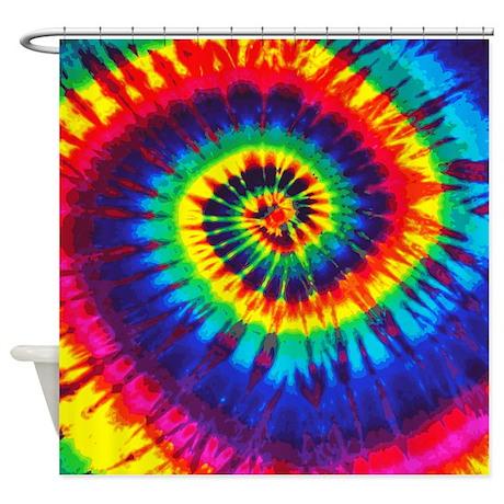 Bright Tie Dye Shower Curtain By Designdivagifts2