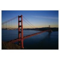 Bridge across the sea, Golden Gate Bridge, San Fra Wall Decal