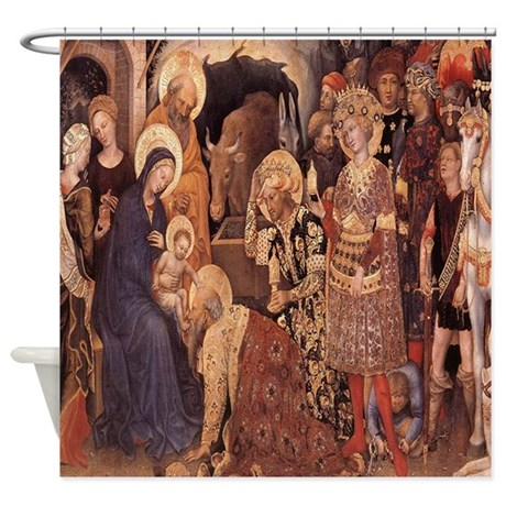 Religious Print Shower Curtain by Cindysstuff