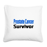 Prostate Cancer Square Canvas Pillow by allcancershirts